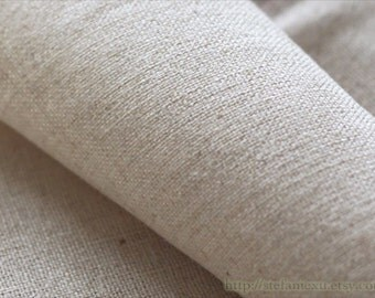 Solid Fabric, Retro Simple Natural Color Linen-Japanese Linen Cotton Blended Fabric(1/2 Yard)