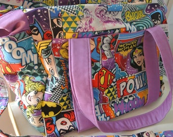 DC Comics Marvel Wonder Women Nappy Bag New Large Sizer XL Diaper Bag with Long Adustable Removable Strap and Zipper On sale