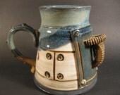 Steampunk ceramic coffee mug 4