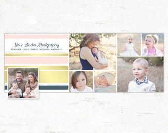 Photography Modern Facebook Timeline Template INSTANT DOWNLOAD
