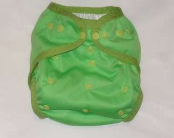 Spring Green PUL Diaper Cover