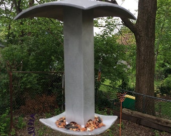 Modern Aluminum Bird Feeder