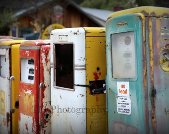 Old Gas Pumps - Rusty Gas Pumps - Old Service Station - Old Gas Stations - Fine Art Photography
