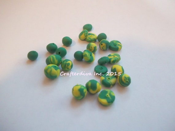 bead set clay crafted baked clay