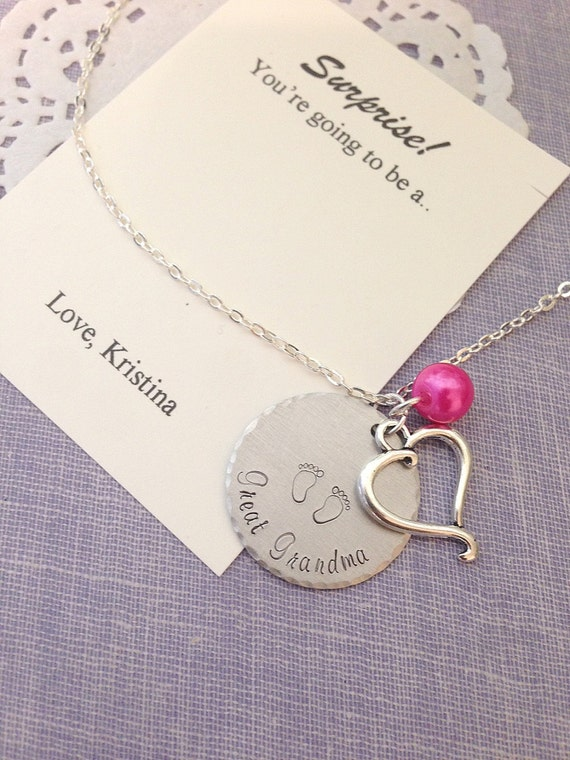 great grandmother great grandma pregnancy announcement necklace