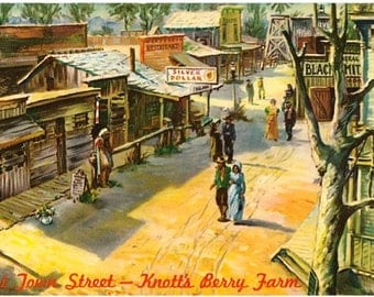 Vintage California Postcard - Ghost Town at Knott's Berry Farm (Unused)
