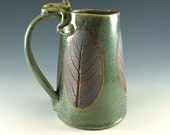 Large Beer Tankard  - Beer Stein - Ceramic Mug - Frog - 32 oz - 953