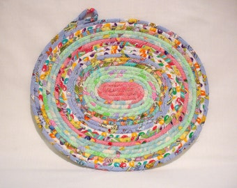 Easter Coiled Fabric Table Mat, Candle Mat