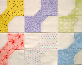 Pastel Baby Bow Tie Quilt Blocks
