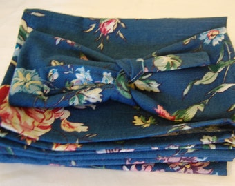 Spring Floral Placemat Set of 6 with matching ties Sale
