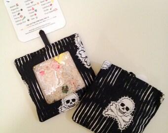 READY to SHIP Hidden Treasure Ispy Bean Bag - SKULLS