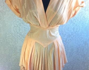 Vintage Jonathan Martin Peach Dress