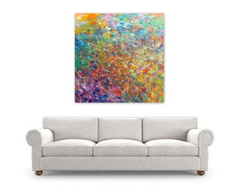 "Digital Print, Abstract Painting, instant download, Modern Home Decor, Wall Art, rainbow colorful, ""Life Force"" by Jessica Torrant"