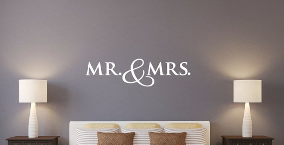 Mr e mrs wall decal sposa la decalcomanie da di tweetheartwallart