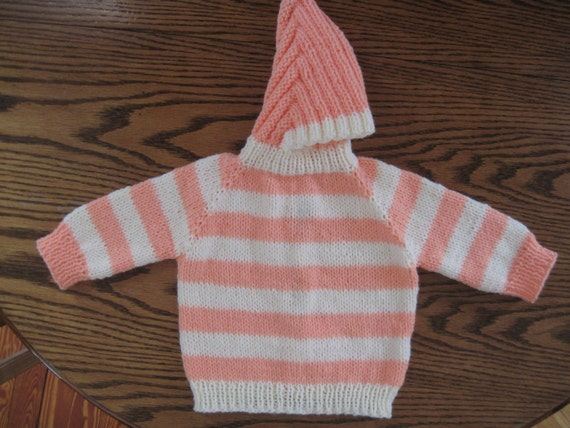 Infant Hooded Sweater Back Zipper - Long Sweater Jacket