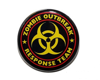 Zombie Outbreak Response Team - Pinback Button Badge 1 1/2 inch 1.5 - Magnet Keychain or Flatback