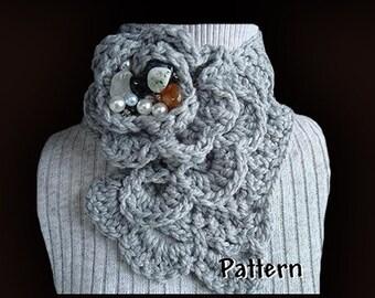 Crochet Pattern - Scarf - PDF 49  Heather Classic Neckwarmer Scarf INSTANT DOWNLOAD