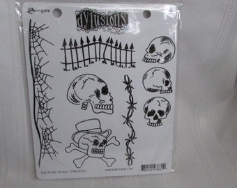 DYLUSIONS  Rubber Stamp Set DAY of the DEAD