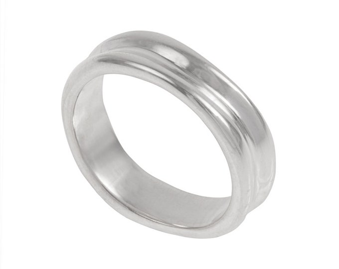 Dunes Mens Wedding Band- Made to order in your size, material and dimensions