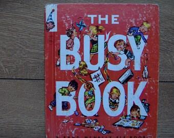 vintage 50s Rand McNally elf book THE BUSY BOOK children boy girl