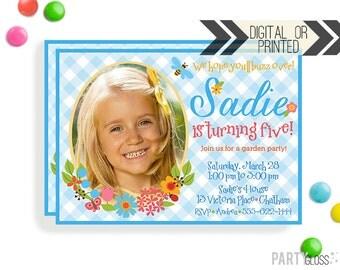 Garden Party Invitation | Digital or Printed | Flower Invitation | Floral Invitation | Floral Garden Party Invite | Spring Invitation