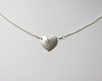 16 inch Heart Layering Necklace in Sterling