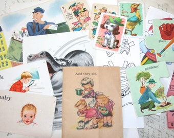 Vintage Children's Ephemera Craft/Scrapbooking Pack