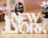 """A """"NEW YORK"""" Decoration/Sign for Easter - Miniature Decoration in 12th Scale (Made To Order)"""