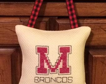 Mustang Broncos Pillow