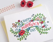 Letterpress Mother's Day Card - Market Banner Mother's Day Card
