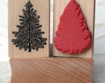 Mini Evergreen tree rubber stamp from oldislandstamps