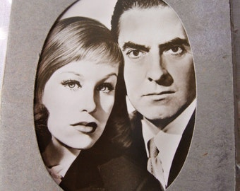 Hildegard Knef German Actress 10 Photo Card Set Hollywood 20th Cent Fox and European Films Fifties Clean Set in Worn Envelope