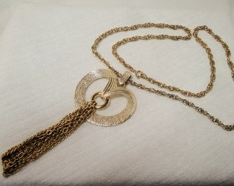 Vintage Sarah Coventy Pendant Necklace with Tassle