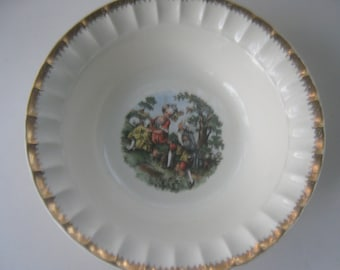 Vintage Serving Bowl Cronin China Colonial Couple