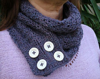 Many Buttons Cowl or Scarf