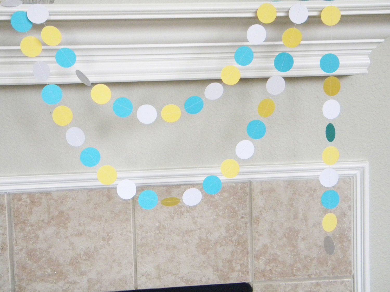 Turquoise Baby Shower Decorations Turquoise Bunting Etsy