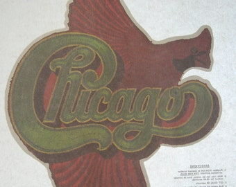 Vintage 1970 Chicago Iron On Transfer with Bird
