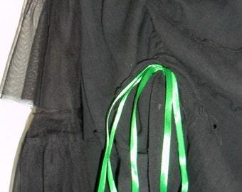 Steampunk Black Bustle Skirt