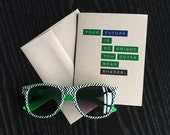 Graduation Card - Your Future Is So Bright You Gotta Wear Shades - High School Graduate Card Recycled Blank Greeting Card