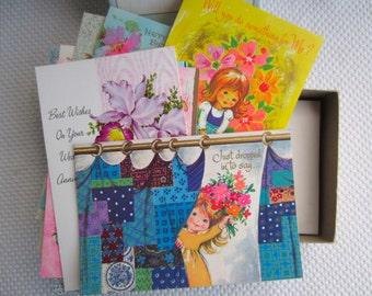 Vintage Retro Greeting Cards set of 10