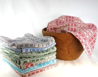 Turned Twill Handwoven Cotton Tea Towels