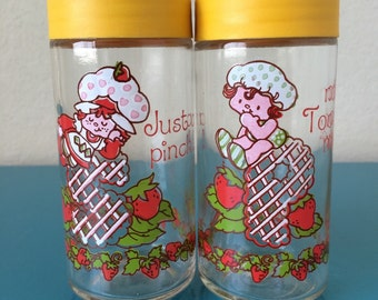 Vintage Strawberry Shortcake Salt and Pepper Shakers