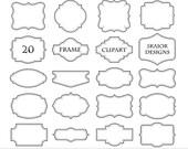 Frame Clipart Frames Clip Art Border Label Digital Frames Scrapbooking Dotted Lines Wedding Invitations Party Logo Design Photography Doodle