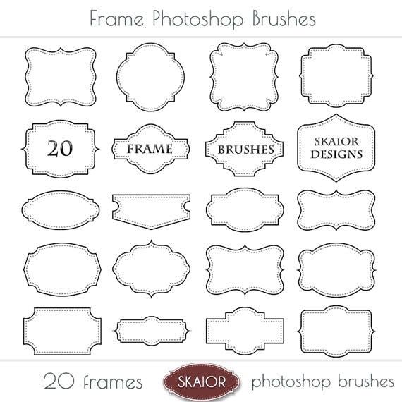 Frame Photoshop Brushes Square Border Frame Digital Scrapbook
