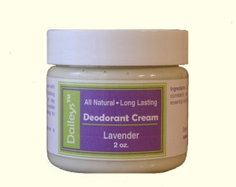 2 for 18.00 - Natural Deodorant Cream- You Choose Scents