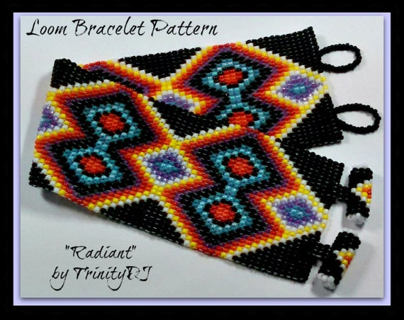 bp loom 021 radiant loom square stitch beadwork pattern