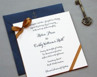 Letterpress Wedding Invitation Set - Carolyna