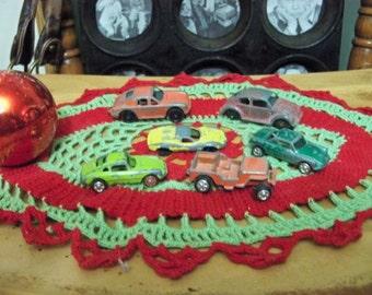 half dozen antique toy mini cars tootsie etc