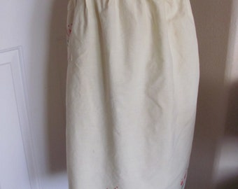 Cute Vintage Retro Cotton Yellow Pocket Half Apron