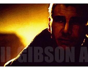 Blade Runner Deckard Art Print Poster Sci-Fi